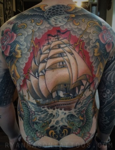 nautical backpiece on colin, 2015.