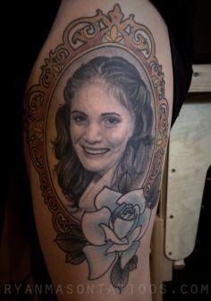 healed portrait, 2015. i'm not a portrait specialist by any means, but with a good enough reference photo i really enjoy working on them. karla had a beautiful photo of her mother as a young woman, so the reference material really played a major part in the outcome of this one.