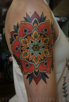 flower mandala on katie, 2015