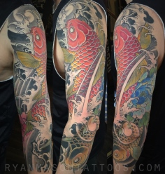 healed koi/water on matt, 2016. the classics never get old.